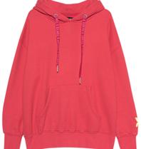 Paul x  Claire oversized hoodie met tekst rood