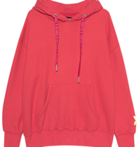 Paul x Claire Paul x  Claire oversized hoodie met tekst rood