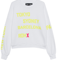 Paul x Claire sweater met tekst wit