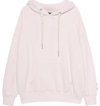 Paul x Claire Paul x  Claire oversized hoodie met tekst nude