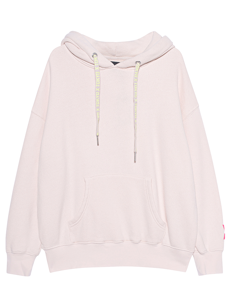 Paul x Claire oversized hoodie with text nude