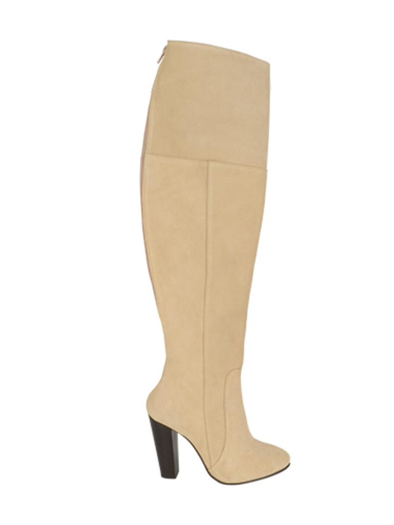 So Jamie business thigh high boots beige