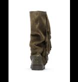 CHA CHA Fringe tall boots army green