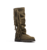CHA Fringe tall boots army green