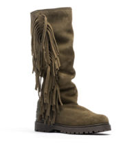 CHA CHA Fringe tall boots army green