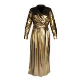 Acide Acide Vivian wrap dress gold