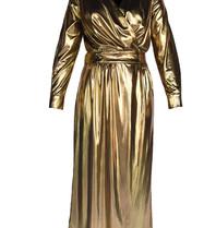 Acide Vivian wrap dress gold
