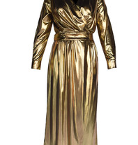 Acide Vivian wrap jurk goud