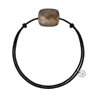 Morganne Bello cord bracelet with tiger eye stone black