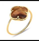 Morganne Bello Ring mit Tigerauge Kleestein Gelbgold