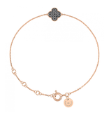 Morganne Bello Morganne Bello bracelet with shamrock black diamond rose gold