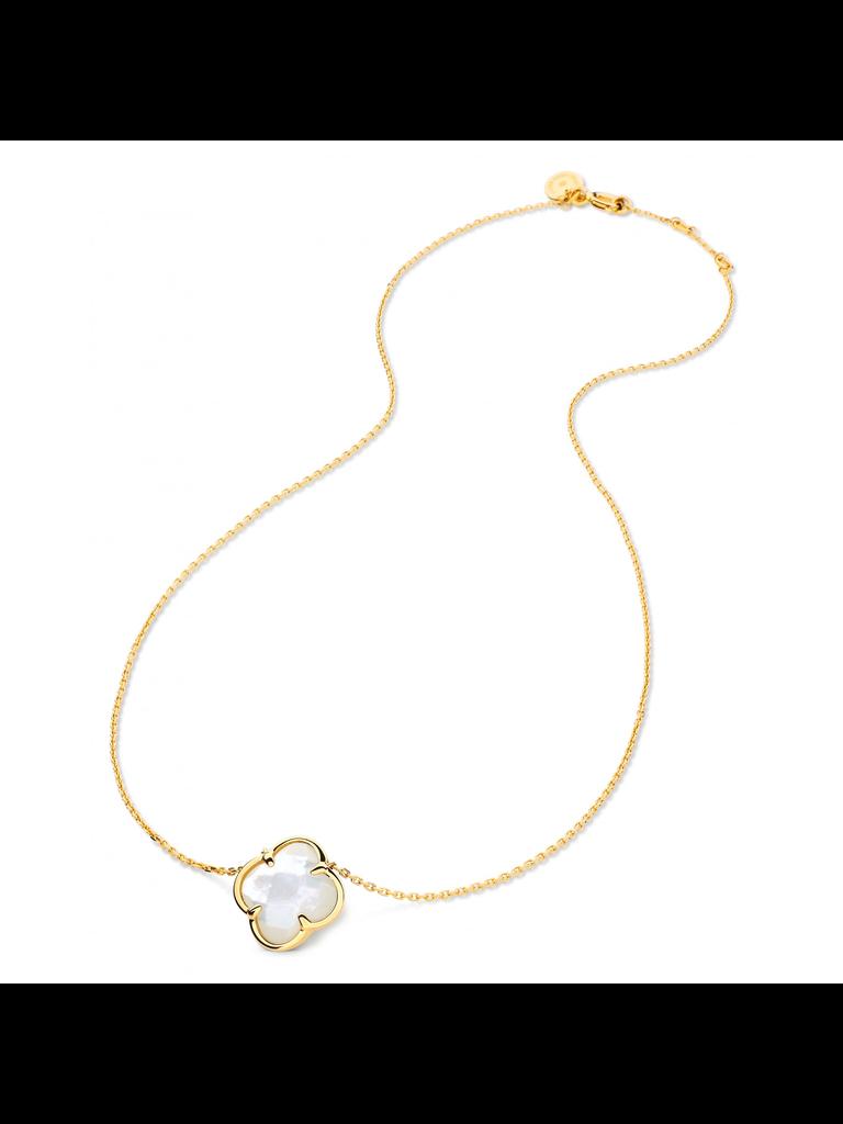 Morganne Bello Halskette mit Kleestein Perlmutt Gelbgold