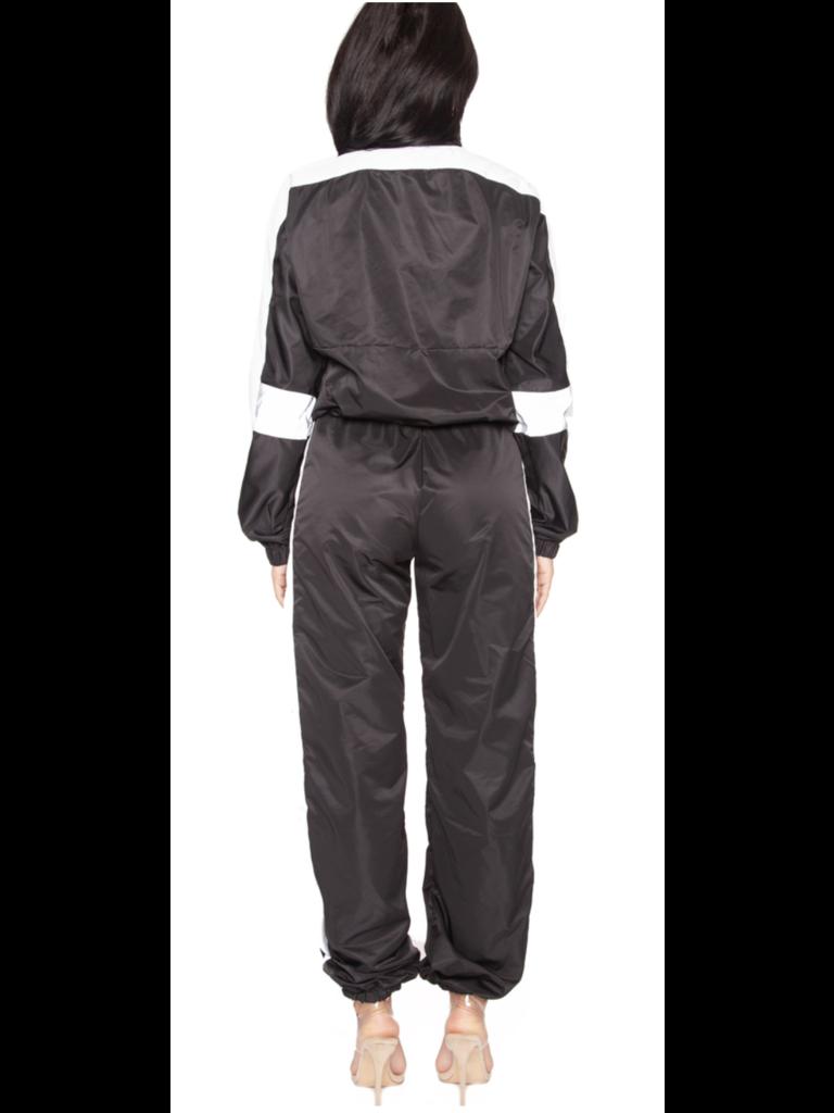La Sisters LA Sisters Hologram Shell Trainingsanzug schwarz