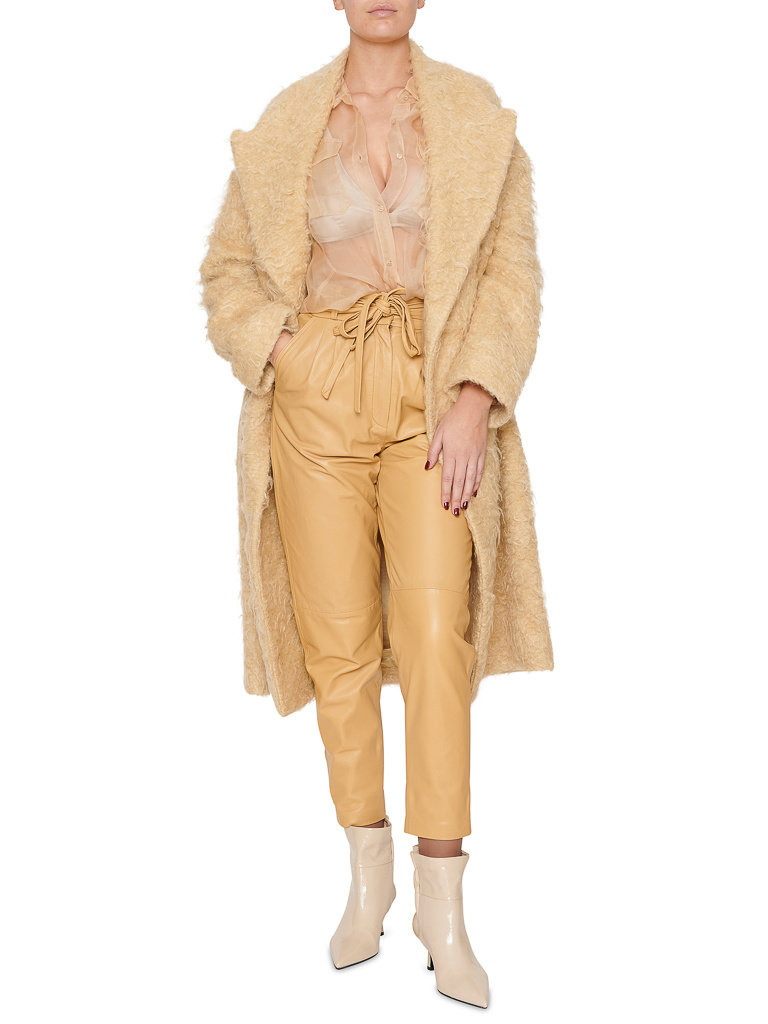 Erika Cavallini Erika Cavallini faux fur jacket mohair cream