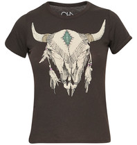Chaser Chaser t-shirt with cowskull vintage black