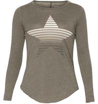 Chaser T-shirt met lange mouwen en ster grijs