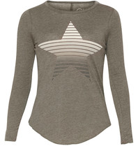 Chaser T-shirt with long sleeves and star gray