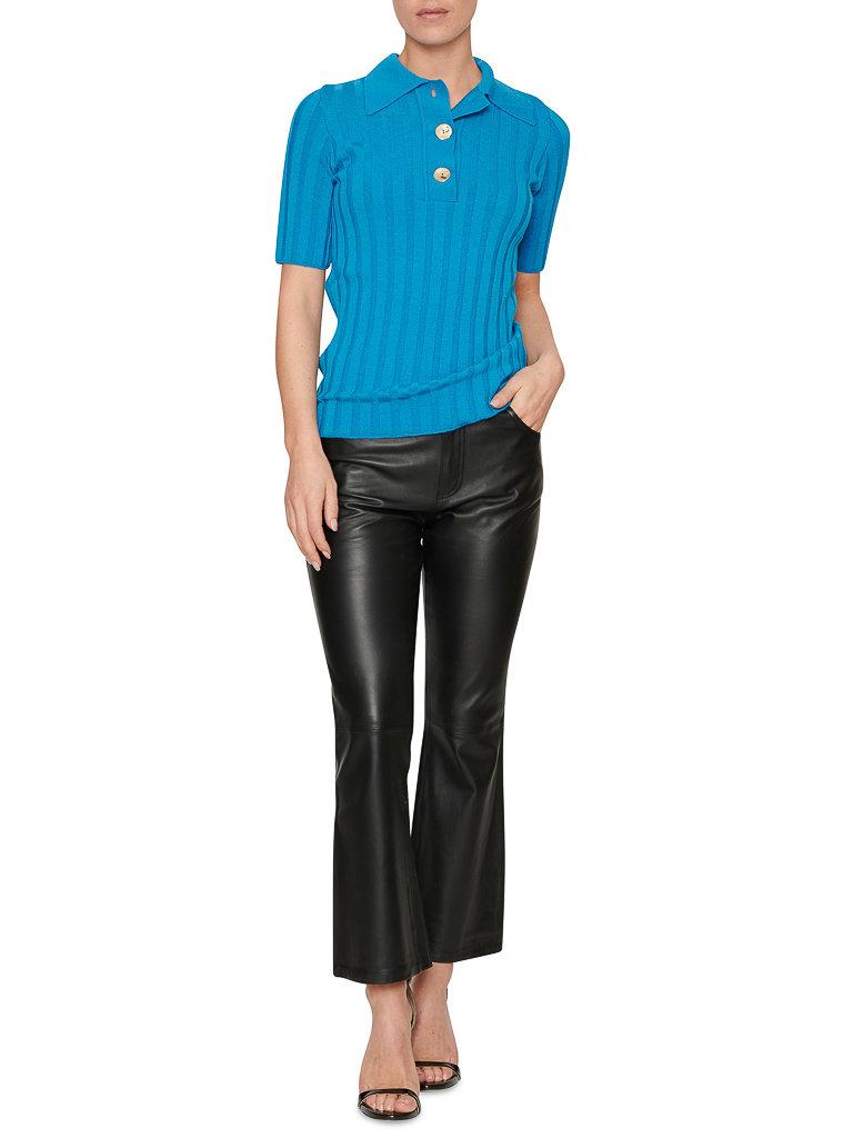 Erika Cavallini Erika Cavallini polo with golden blue buttons