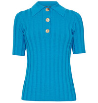 Erika Cavallini Erika Cavallini polo with golden blue buttons
