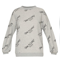Paul x Claire Paul x Claire Sweater with logo print gray