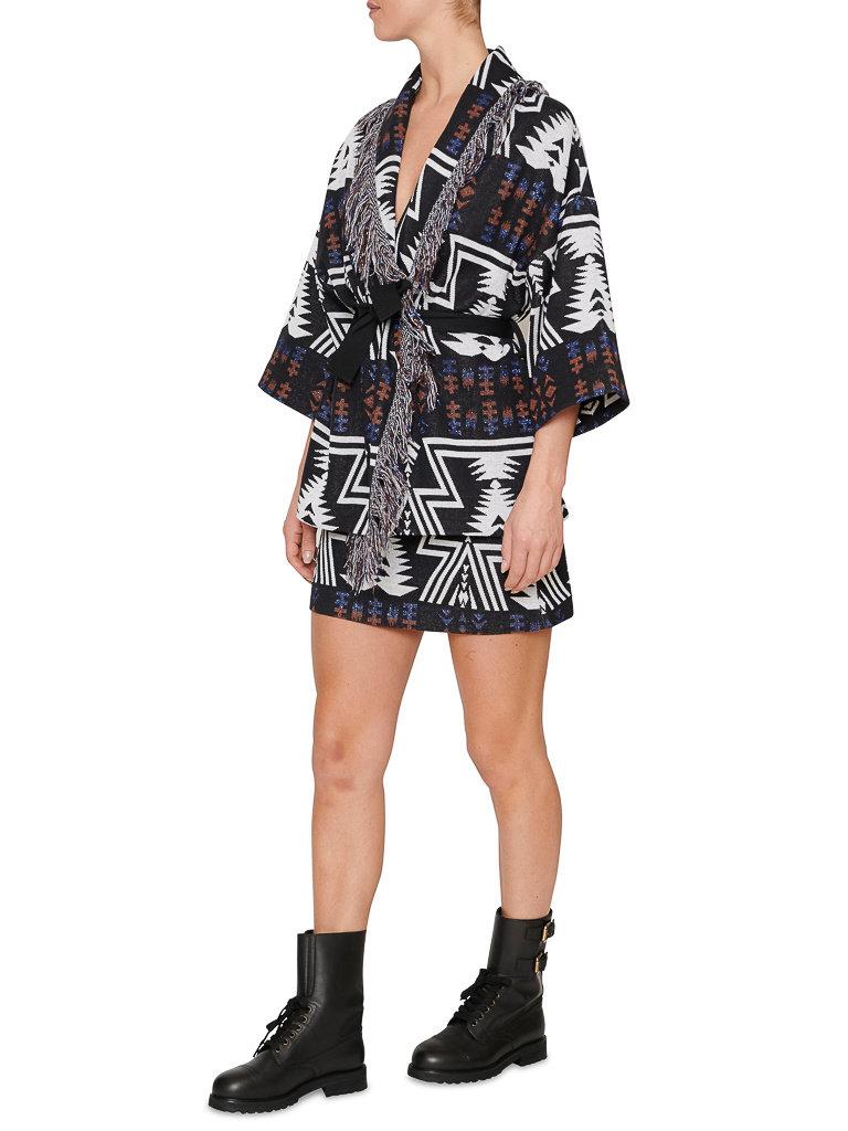 Semicouture Semicouture mini skirt with aztec print black