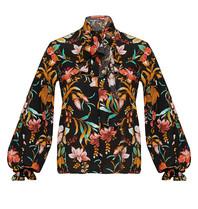 Britt Sisseck Britt Sisseck Daisy blouse met bloemenprint zwart