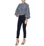 Britt Sisseck Britt Sisseck Daisy blouse met geruite print donkerblauw