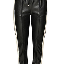 Semicouture Semicouture faux leather jogger with black trim