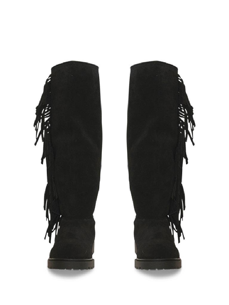 CHA Fringe hohe Stiefel schwarz