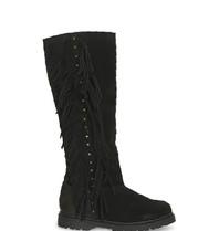 CHA CHA Fringe tall boots black