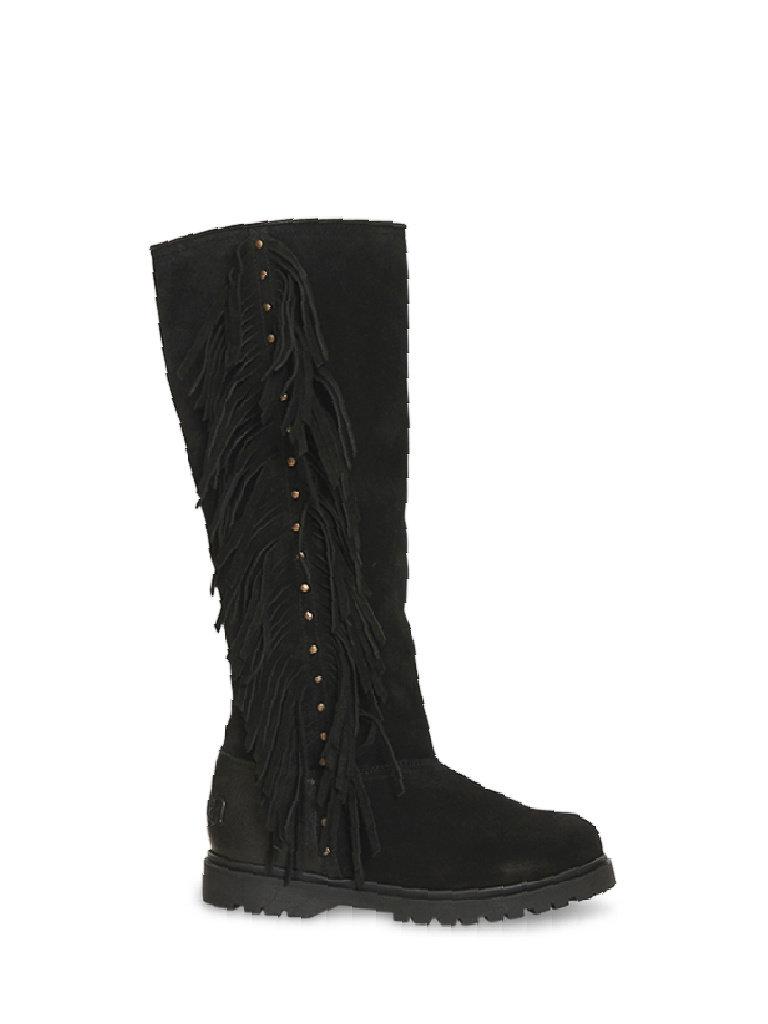 CHA Fringe tall boots black