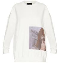 Erika Cavallini Erika Cavallini oversized sweater with print white