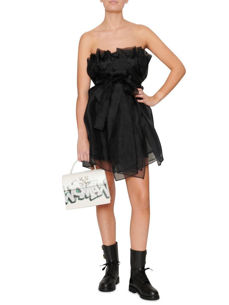 Acide Acide Arya strapless dress with black bow