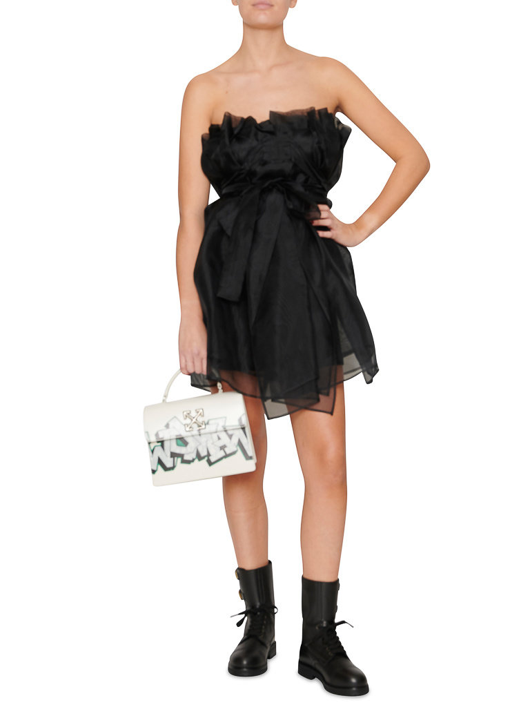 Acide Acide Arya strapless jurk met strik zwart