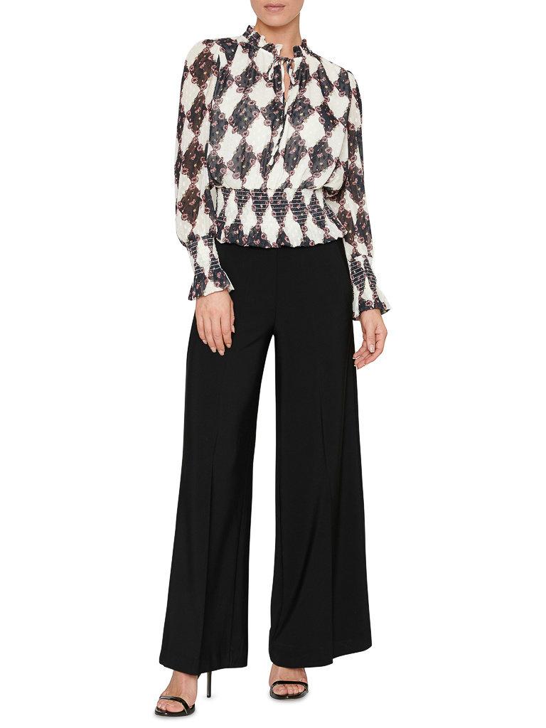 SET Fashion SET Fashion pantalon met wijde pijp zwart