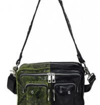 Núnoo Núnoo Ellie snake mix bag large black, green