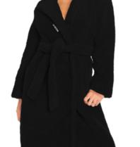 La Sisters LA Sisters teddy coat zwart