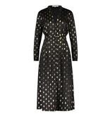 Freebird Stine Foil midi jurk met goudkleurige details zwart