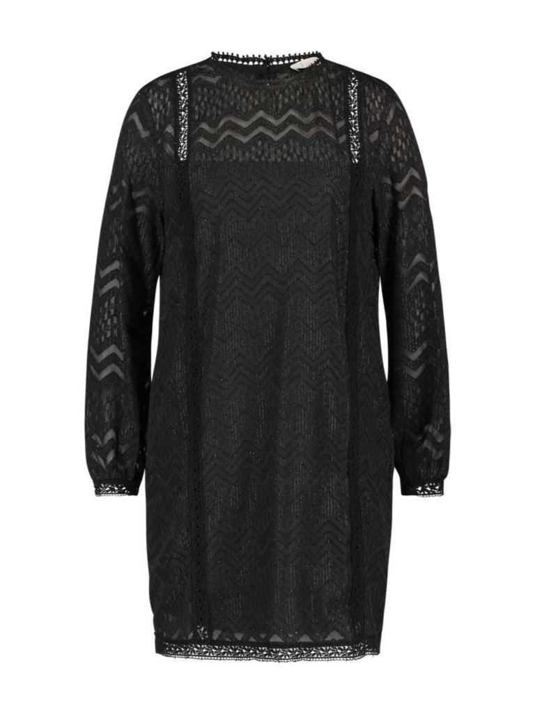 Freebird Dena jurk met details zwart