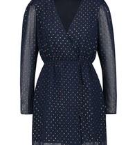Freebird Evia Jaquard Kleid mit goldfarbenen blauen Details