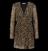 Freebird Evia Leopard jurk met print multicolor