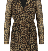 Freebird Freebird Evia Leopard dress with multicolor print