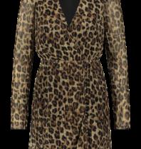 Freebird Freebird Evia Leopard Kleid mit mehrfarbigem Print