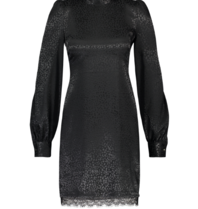 Freebird Freebird tracey jurk met leopard print zwart
