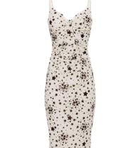 Elisabetta Franchi Elisabetta Franchi dress with star print and lace white