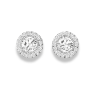 La Sisters LA Sisters Halo Stud Earrings zilver