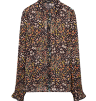 Alix The Label Alix The Label Ditsy Lighting blouse zwart multicolor
