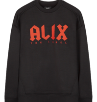 Alix The Label Alix der Labelpullover mit Logoprint schwarz