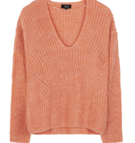 Alix The Label Alix The Label V-neck oversized pink pullover