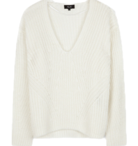 Alix The Label Alix The Label V-neck oversized white pullover